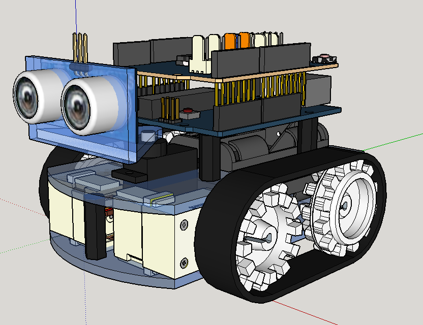 3D CAD Sketchup Roboter
